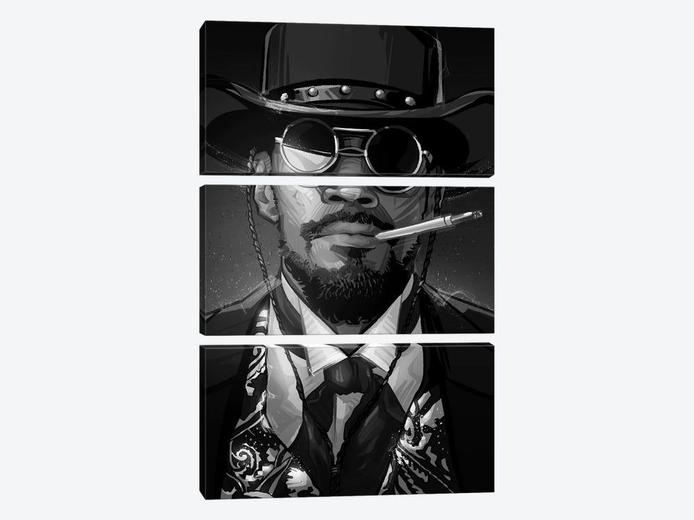 Django In Black and White by Nikita Abakumov 3-piece Canvas Art