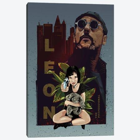 Leon The Professional Canvas Print #AKM183} by Nikita Abakumov Canvas Art Print