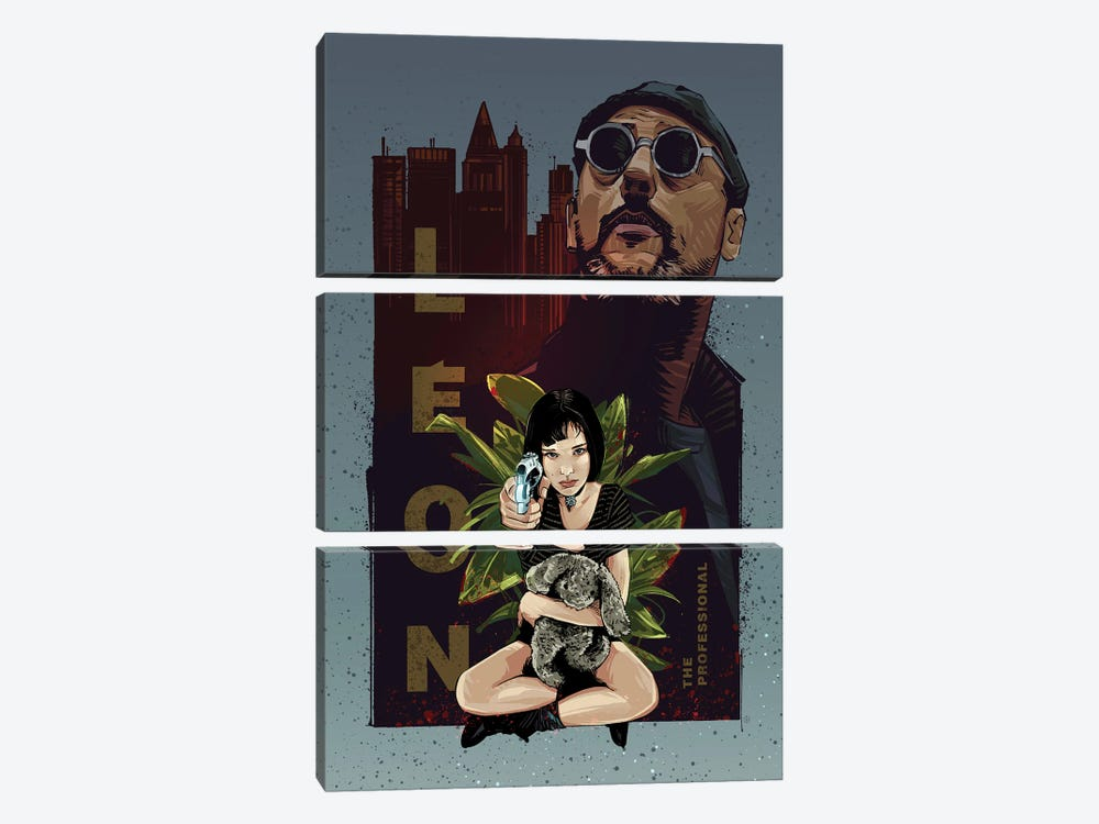 Leon The Professional by Nikita Abakumov 3-piece Canvas Print