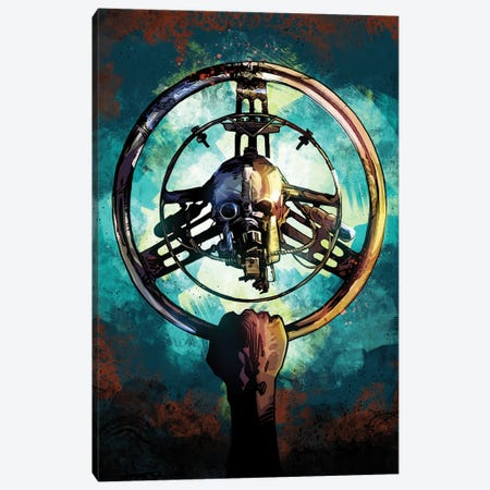 Mad Max Wheel Canvas Print #AKM184} by Nikita Abakumov Canvas Artwork