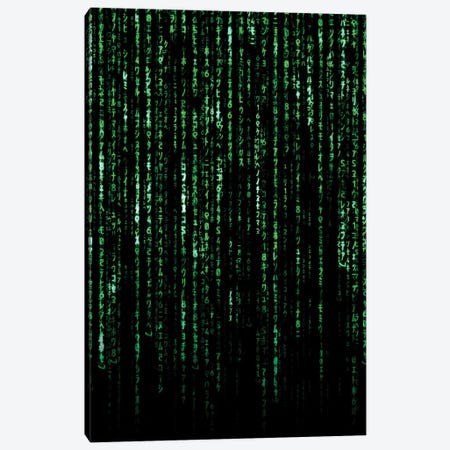 Matrix Code Canvas Print #AKM187} by Nikita Abakumov Canvas Artwork