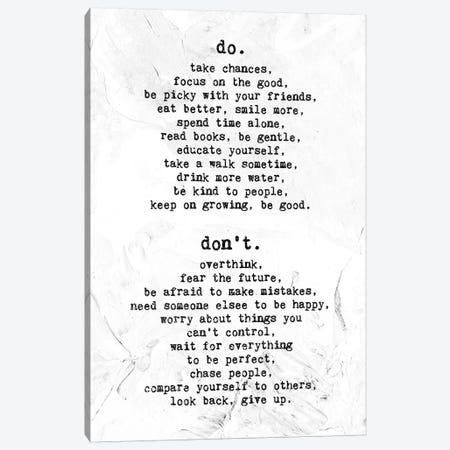 Do - Don't Canvas Print #AKM18} by Nikita Abakumov Canvas Wall Art