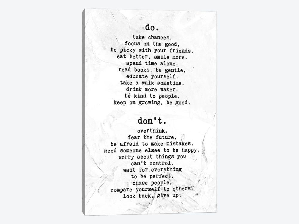 Do - Don't by Nikita Abakumov 1-piece Canvas Print
