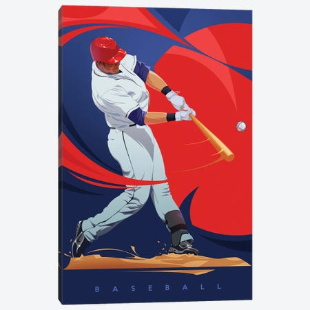 Baseball Canvas Print #AKM199} by Nikita Abakumov Canvas Art
