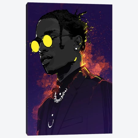 A$ap Rocky Canvas Print #AKM1} by Nikita Abakumov Canvas Art