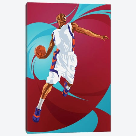 Basketball Canvas Print #AKM201} by Nikita Abakumov Canvas Artwork
