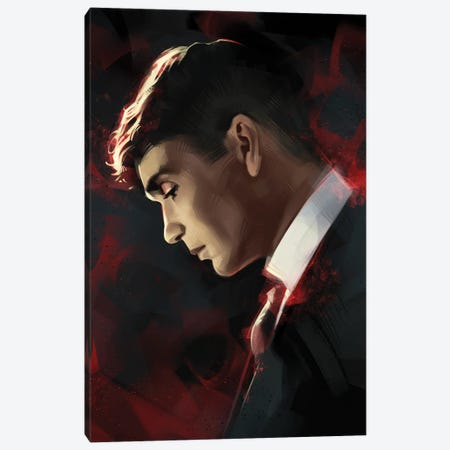Tommy Shelby Canvas Print #AKM203} by Nikita Abakumov Canvas Artwork