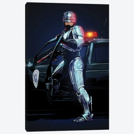 Robocop Canvas Print #AKM217} by Nikita Abakumov Canvas Art