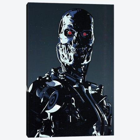 Terminator Cyborg Canvas Print #AKM220} by Nikita Abakumov Canvas Art