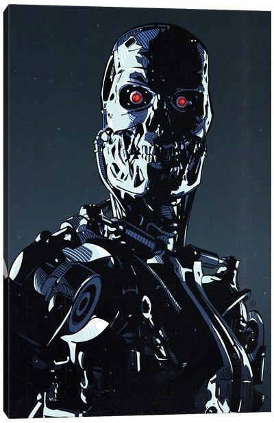 Terminator Cyborg Canvas Art Print