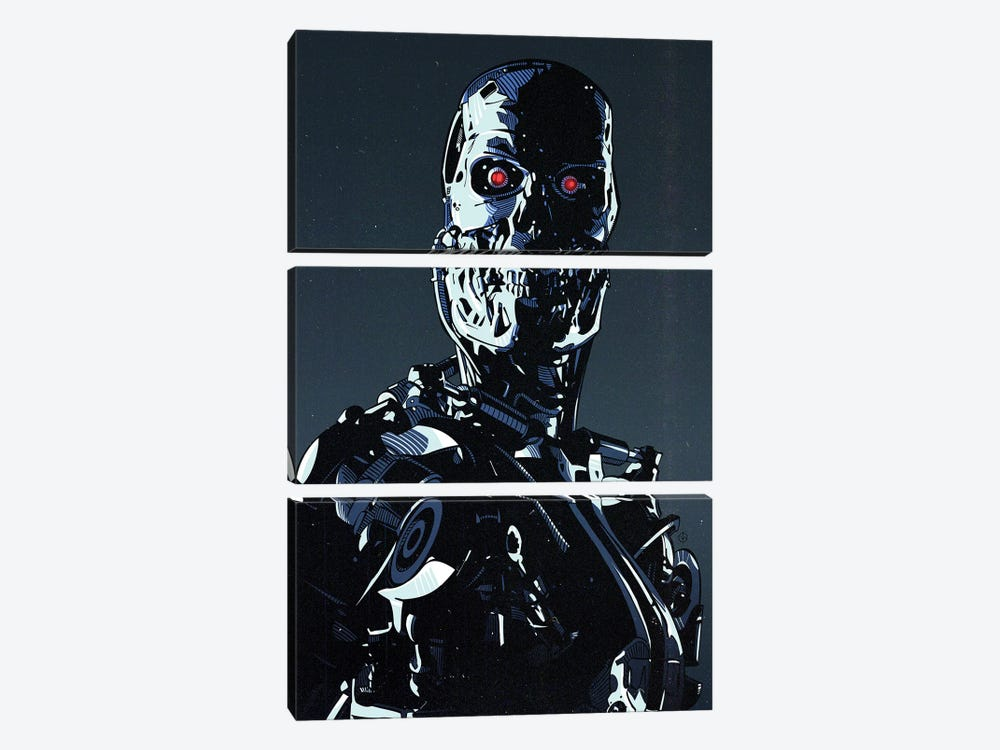 Terminator Cyborg by Nikita Abakumov 3-piece Canvas Wall Art