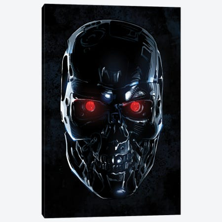 Terminator Face Canvas Print #AKM221} by Nikita Abakumov Canvas Artwork