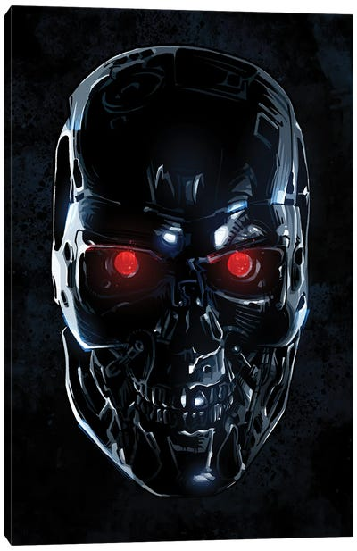 Terminator Face Canvas Art Print