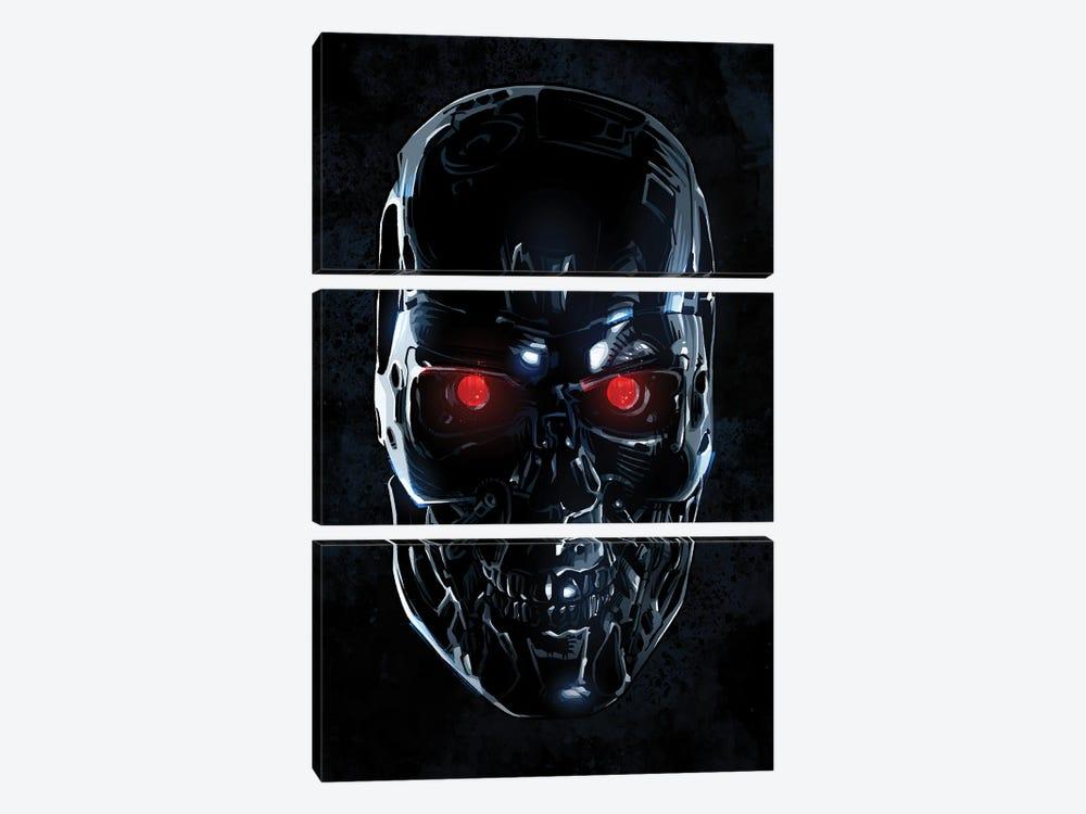 Terminator Face by Nikita Abakumov 3-piece Art Print