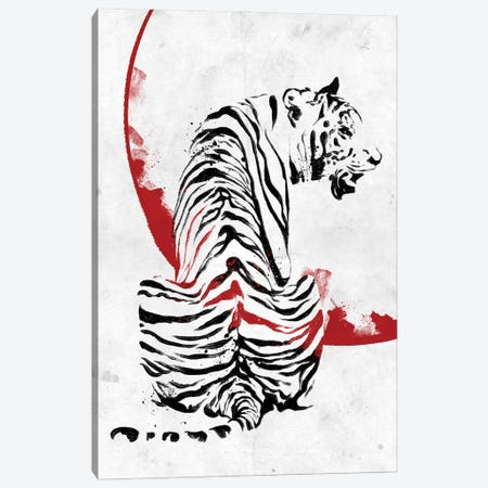 Inked Tiger 3-Piece Canvas #AKM225} by Nikita Abakumov Art Print