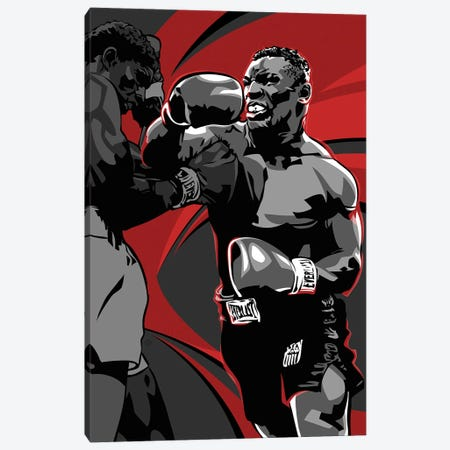 Mike Tyson Canvas Print #AKM229} by Nikita Abakumov Canvas Artwork