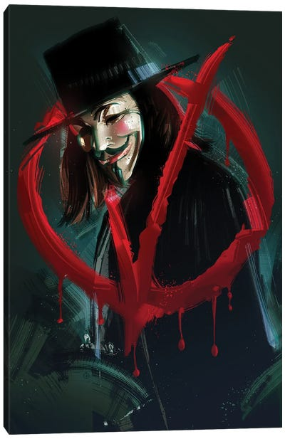 V For Vendetta I Canvas Art Print