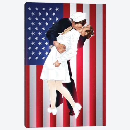 VJ Day Kiss Canvas Print #AKM232} by Nikita Abakumov Art Print