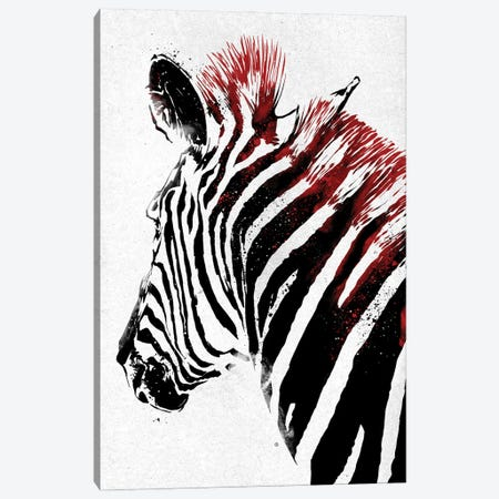 Zebra Canvas Print #AKM237} by Nikita Abakumov Canvas Art