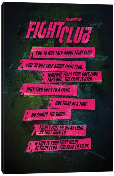 Fight Club Rules Canvas Art Print