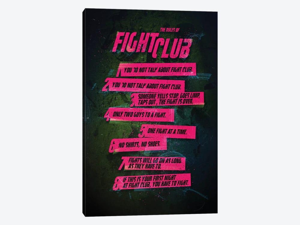 Fight Club Rules by Nikita Abakumov 1-piece Canvas Art Print