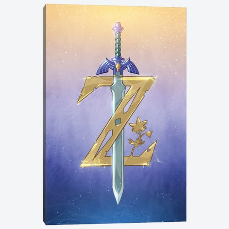 Zelda Canvas Print #AKM242} by Nikita Abakumov Canvas Wall Art