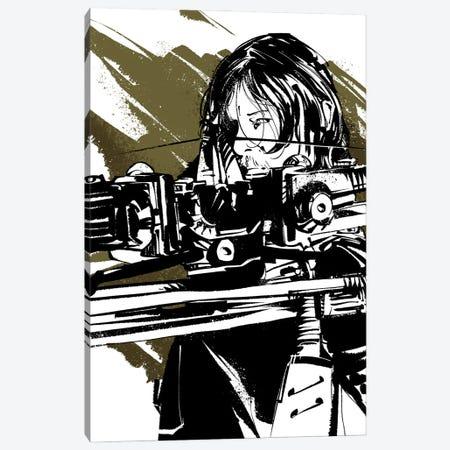The Walking Dead Daryl Canvas Print #AKM245} by Nikita Abakumov Canvas Print