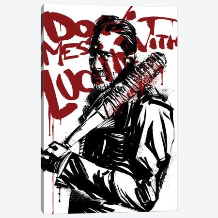 The Walking Dead Negan Canvas Print #AKM246} by Nikita Abakumov Canvas Print