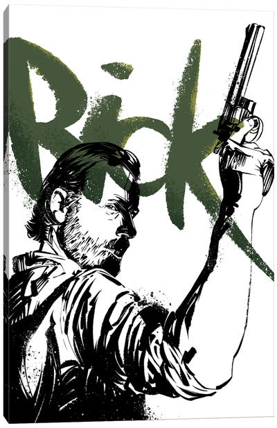 The Walking Dead Rick Canvas Art Print