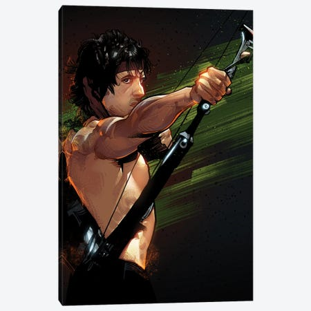 Rambo First Blood Canvas Print #AKM248} by Nikita Abakumov Canvas Wall Art