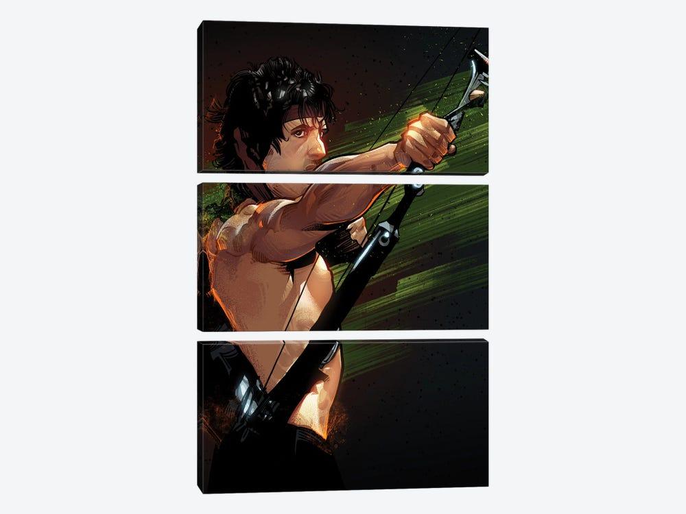 Rambo First Blood by Nikita Abakumov 3-piece Canvas Art