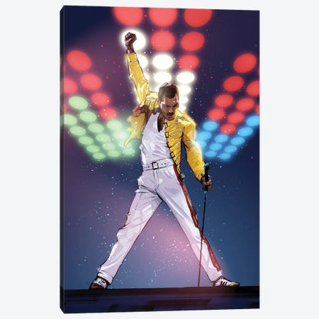 Freddie Mercury Canvas Print #AKM24} by Nikita Abakumov Canvas Artwork