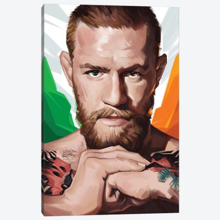 Conor McGregor Canvas Print #AKM258} by Nikita Abakumov Art Print