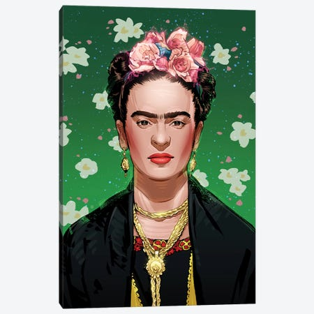 Frida Kahlo Canvas Print #AKM25} by Nikita Abakumov Canvas Wall Art
