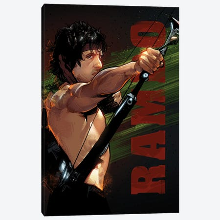 Rambo Canvas Print #AKM272} by Nikita Abakumov Canvas Art Print
