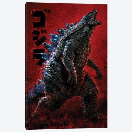 Godzilla Canvas Print #AKM273} by Nikita Abakumov Canvas Print