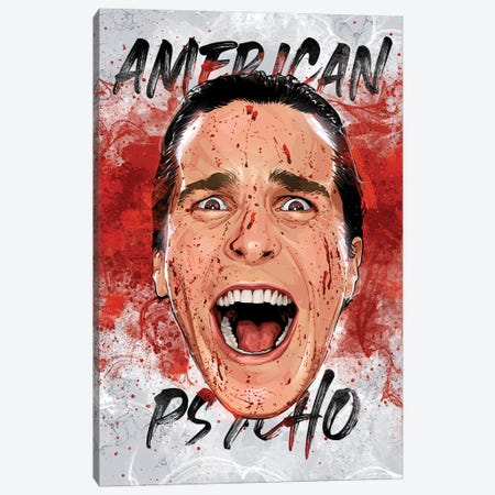 American Psycho Canvas Print #AKM276} by Nikita Abakumov Canvas Art