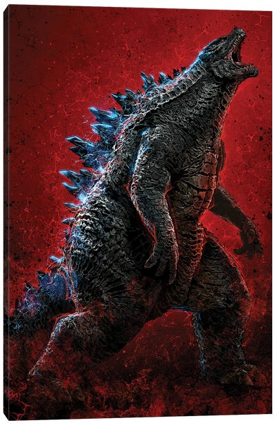 Godzilla Canvas Art Print