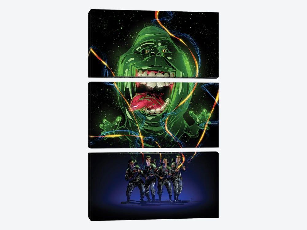 Ghostbusters by Nikita Abakumov 3-piece Canvas Print