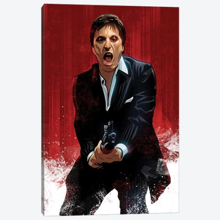 Scarface Canvas Print #AKM282} by Nikita Abakumov Canvas Artwork