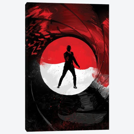 James Bond 007 Canvas Print #AKM283} by Nikita Abakumov Canvas Artwork