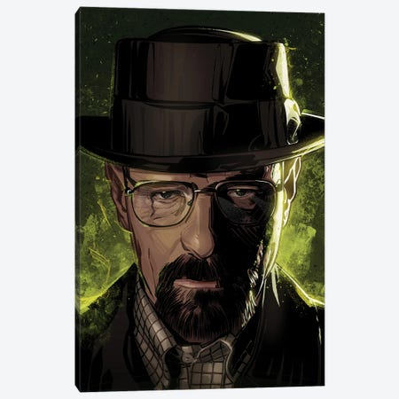 Breaking Bad Walter Canvas Print #AKM285} by Nikita Abakumov Canvas Print