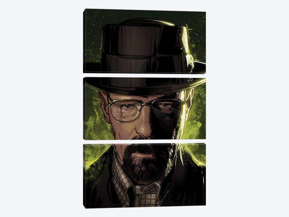 Breaking Bad Walter by Nikita Abakumov 3-piece Canvas Art Print