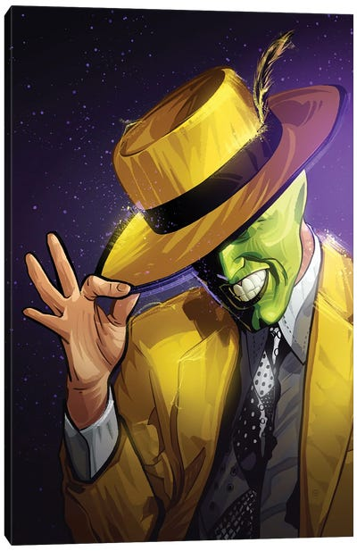 The Mask Yellow Canvas Art Print