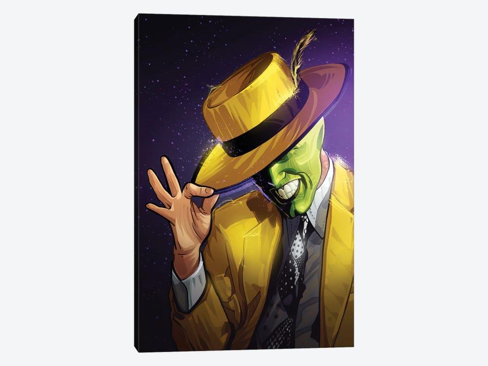 The Mask Yellow by Nikita Abakumov 1-piece Canvas Wall Art