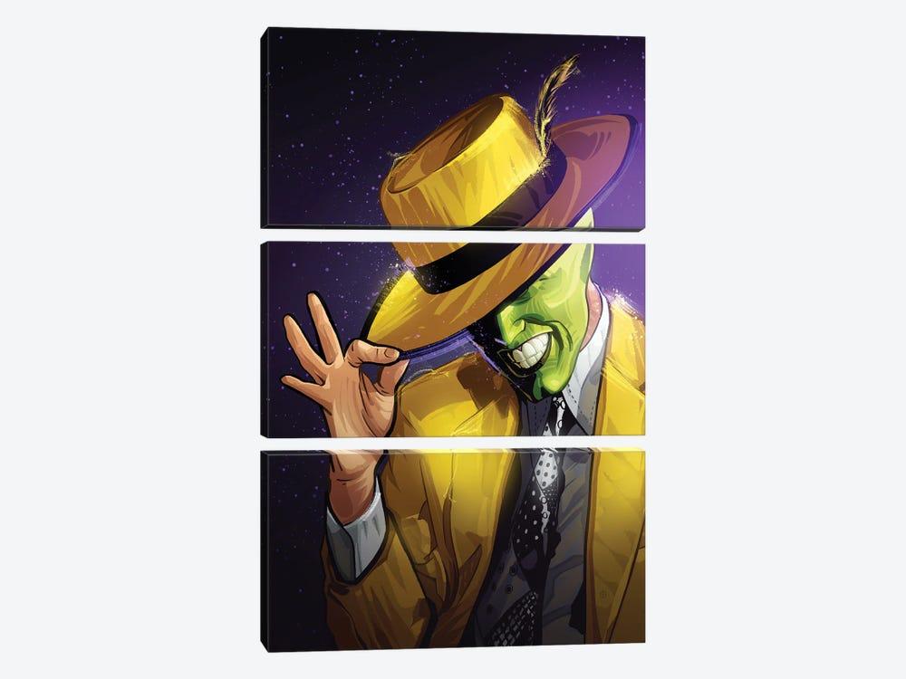 The Mask Yellow by Nikita Abakumov 3-piece Canvas Art