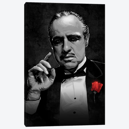 The Godfather Canvas Print #AKM293} by Nikita Abakumov Canvas Art Print