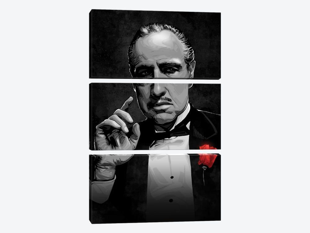 The Godfather by Nikita Abakumov 3-piece Canvas Wall Art