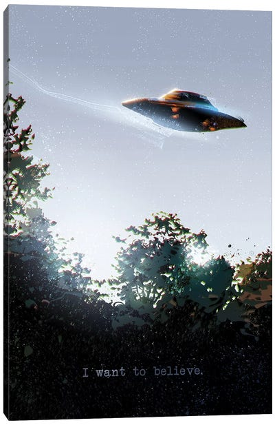 I Want To Believe Canvas Art Print