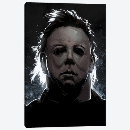 Michael Myers Halloween Canvas Print #AKM329} by Nikita Abakumov Canvas Art Print